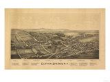 Clifton Springs, New York - Panoramic Map Prints by  Lantern Press