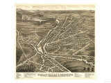 Berwick, Maine - Panoramic Map Prints