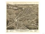 Berwick, Maine - Panoramic Map Prints by  Lantern Press