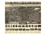Haverhill, Massachusetts - Panoramic Map Prints by  Lantern Press