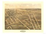 Brookfield, Missouri - Panoramic Map Prints by  Lantern Press