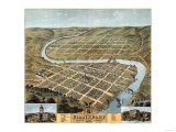 Frankfort, Kentucky - Panoramic Map Prints by  Lantern Press