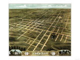 Jackson, Tennessee - Panoramic Map Prints
