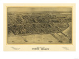 Coney Island, New York - Panoramic Map Prints