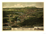Bridgton, Maine - Panoramic Map Prints by  Lantern Press