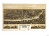 Chippewa Falls, Wisconsin - Panoramic Map Prints by  Lantern Press