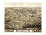 Chillicothe, Missouri - Panoramic Map Prints