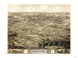 Chillicothe, Missouri - Panoramic Map Prints by  Lantern Press