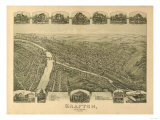 Grafton, West Virginia - Panoramic Map Prints by  Lantern Press