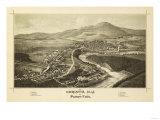 Corinth, New York - Panoramic Map Prints by  Lantern Press