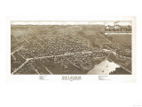 Delavan, Wisconsin - Panoramic Map Prints