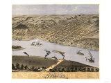 Hannibal, Missouri - Panoramic Map Prints