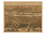 Batavia, Illinois - Panoramic Map Prints