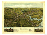 Clinton, Connecticut - Panoramic Map Prints by  Lantern Press