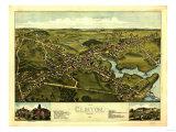 Clinton, Connecticut - Panoramic Map Prints by  Lantern Press