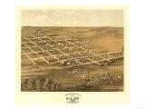 Holden, Missouri - Panoramic Map Prints