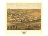 Holden, Missouri - Panoramic Map Prints by  Lantern Press