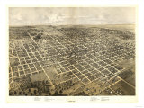 Bloomington, Illinois - Panoramic Map Prints