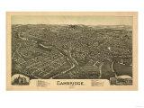 Cambridge, Ohio - Panoramic Map Prints