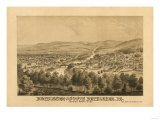 Bethlehem, Pennsylvania - Panoramic Map Prints by  Lantern Press