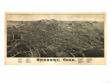 Danbury, Connecticut - Panoramic Map Prints