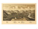 Deposit, New York - Panoramic Map Art by  Lantern Press
