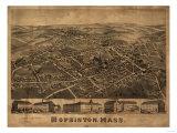 Hopkinton, Massachusetts - Panoramic Map Art by  Lantern Press