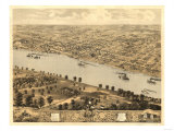 Jefferson City, Missouri - Panoramic Map Art by  Lantern Press