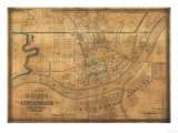 Cincinnati, Ohio - Panoramic Map Art by  Lantern Press
