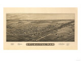 East Syracuse, New York - Panoramic Map Prints by  Lantern Press