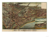 Kansas City, Missouri - Panoramic Map Prints by  Lantern Press