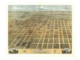 Champaign, Illinois - Panoramic Map Prints