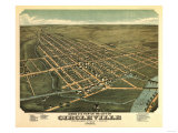 Circleville, Ohio - Panoramic Map Prints