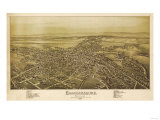 Chambersburg, Pennsylvania - Panoramic Map Prints