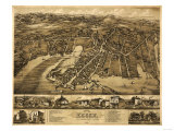 Essex, Connecticut - Panoramic Map Prints