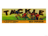 Exeter, California - Tackle Grape Label Prints by  Lantern Press