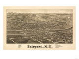 Fairpoint, New York - Panoramic Map Prints by  Lantern Press