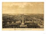 Baltimore, Maryland - Panoramic Map Prints