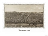 Cleveland, Ohio - Panoramic Map Prints