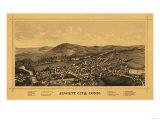 Jewett City, Connecticut - Panoramic Map Prints by  Lantern Press