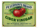 Hollywood, California - Peterson's Cider Vinegar Label Plakater af Lantern Press