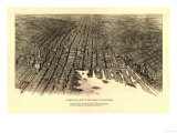 Baltimore, Maryland - Panoramic Map Prints by  Lantern Press