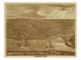 Davenport, Iowa - Panoramic Map Prints by  Lantern Press