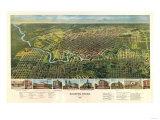 Houston, Texas - Panoramic Map Prints