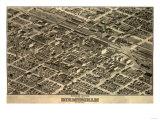 Birmingham, Alabama - Panoramic Map Kunstdrucke