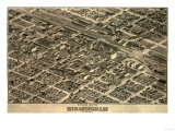 Birmingham, Alabama - Panoramic Map Prints by  Lantern Press