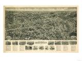 Farmingdale, New York - Panoramic Map Art by  Lantern Press