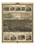 Chariton, Iowa - Panoramic Map Art