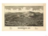 Ellenville, New York - Panoramic Map Prints by  Lantern Press