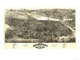 Boston, Massachusetts - Panoramic Map Prints